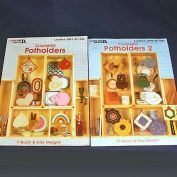 2 Leisure Arts Crocheted Pot Holders Instruction Booklets
