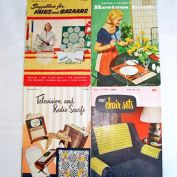 Four 1950s Crochet Pattern Instruction Booklets