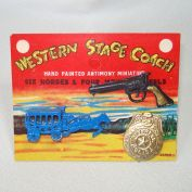 Western Stagecoach Antimony Toy Play Set Mint on Card