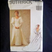 Butterick 1990 Uncut Bridal Wedding Dress Sewing Pattern Size 6-12