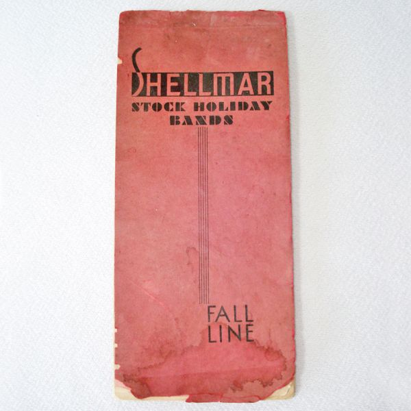 1934 Cellophane Holiday Ribbon Bands Sample Book