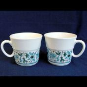 Noritake Blue Moon 2 Coffee Mugs Cups