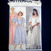 Butterick 1985 Wedding Bridesmaid Dress Sewing Pattern Uncut Size 8