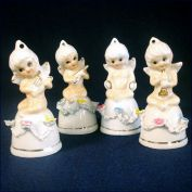 Bone China Cherub Bell Figurines, Set of 4