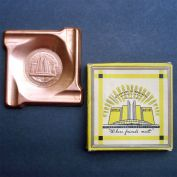 1933 Chicago Worlds Fair Copper Ashtray In Box