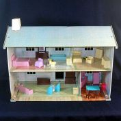 Wolverine Tin Litho 2 Story Dollhouse With Furniture
