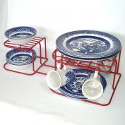 Red Rubbermaid Vinyl Wire Dish and Plate Storage Rack