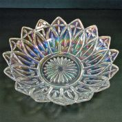 Federal Iridescent Petal 10 inch Glass Bowl