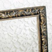 Carved Wood 14 by 11 Picture Frame in Antiqued Gilt Narrow Moulding
