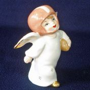 1950s Little Boy Football Player Angel Figurine