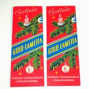 2 Unused Packs German Gold Lametta Christmas Tinse Iciclesl