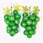 Decorative Green Glass Grape Clusters With Christmas Ornaments