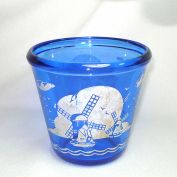 Hazel Atlas Ritz Blue Windmill Glass Ice Pail Tub