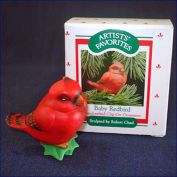 Hallmark 1988 Baby Redbird Clip on Christmas Ornament in Original Box