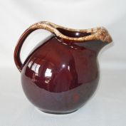 Hull Pottery Brown Drip Tilted Jug Pitcher