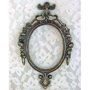 Italian Brass Picture Frame with Rose and Bow Decoration