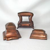 Jennings Brothers Bronze Desk Set Inkwell Stamp Box Letter Holder