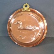 Large Old Dutch Copper Floating Duck Mold