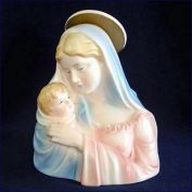 Lefton Madonna And Child Figural Planter