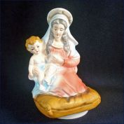 Madonna and Child Christmas Music Box Porcelain Figurine