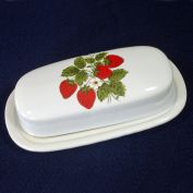 McCoy Strawberry Country Stick Butter Dish