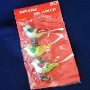 Package Italian Clip on Bird Christmas Ornaments Unused