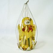Foil Glass Angel Scene Wire Wrap Christmas Ornament