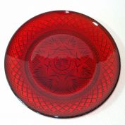Durand Antique Pattern Ruby Glass Lunch Plates