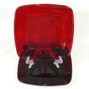 Anchor Hocking 3 Royal Ruby Charm Lunch Plates