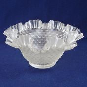Satin Hobnail Ruffled Glass Lamp Shades 1.75 Inch Fitter