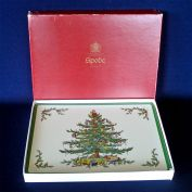 Box 4 Spode England Christmas Tree Place Mats