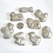 Set 8 West German Tin Animals Candy Molds