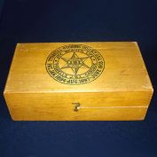 1903 Tyrrells Hygienic Wood Box Quack Medicine Enema Colon Cascade