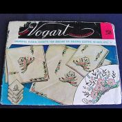 Vogart 1950s Embroidery Transfer Pattern - Double Sheet Flower Baskets