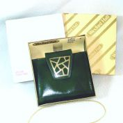 1960s Wexford Hall Green Mosaic Clutch Wallet in Box