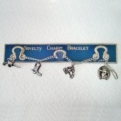 1950s Japan Toy Western Charm Bracelet on Original Card