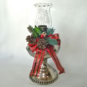 1905 Rayo Kerosene Lamp Base Decorated for Christmas
